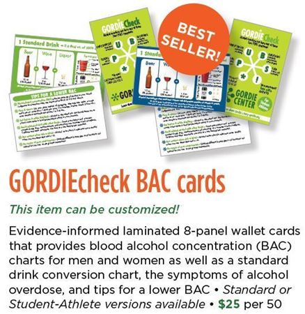 Picture for category GORDIEcheck BAC Cards