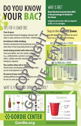 Do You Know Your BAC? Poster