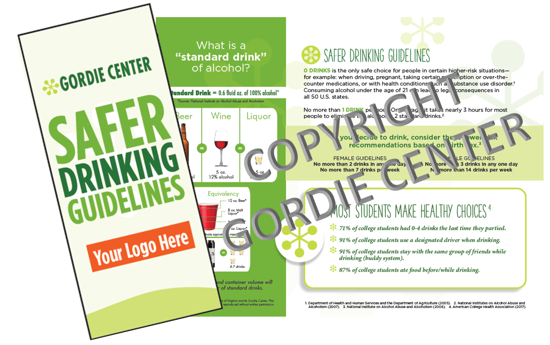 Custom Safer Drinking Guidelines Brochure
