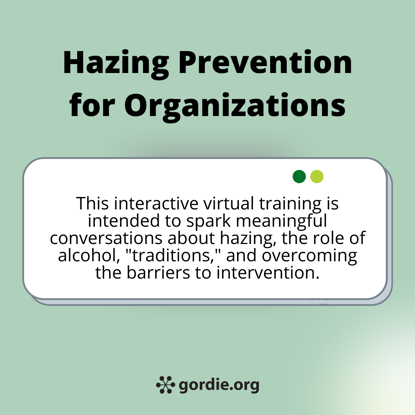 Hazing Prevention for Organizations